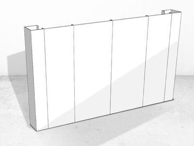 einseitig Wand